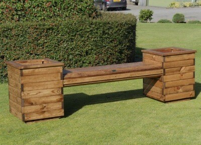 Wooden Planter Seat