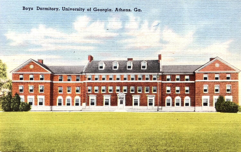 Boys Dormitory UGA Athens GA Postcard