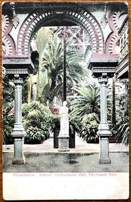 Philadelphia Interior Horticultural Hall Fairmount Park 1907