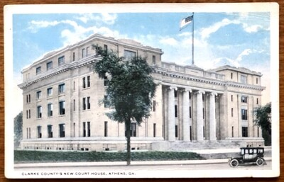 Clarke County's New Court House Athens GA Vintage Postcard