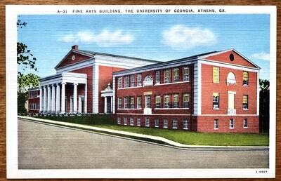Fine Arts Building University of Georgia Athens GA Postcard