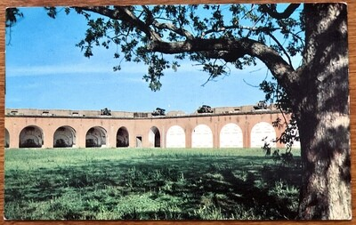 Fort Pulaski National Monument Postcard Plastichrome Dixie News Co.