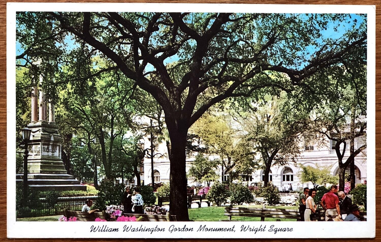 William Washington Gordon Monument Wright Square Savannah GA
