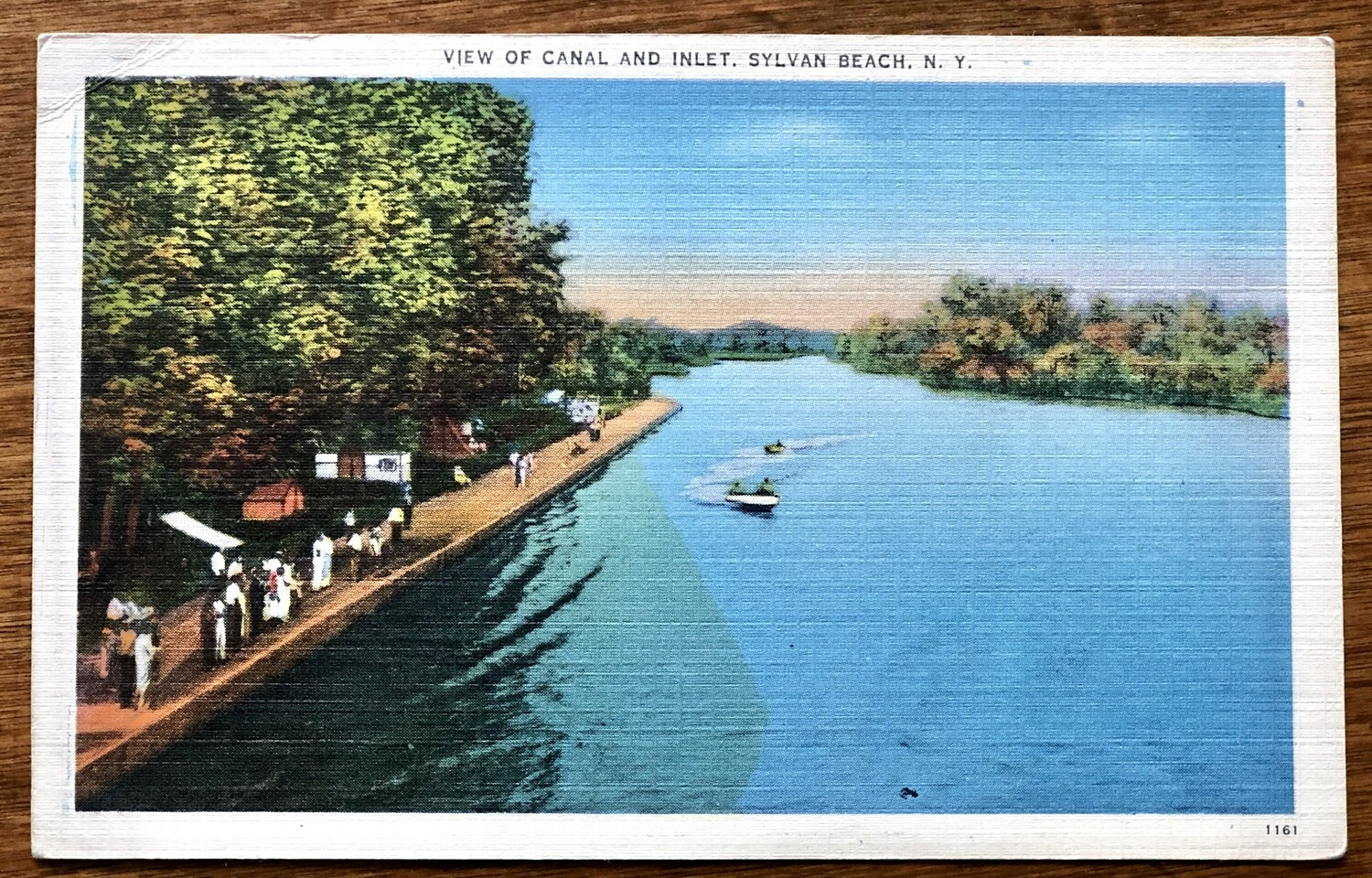 View of Canal and Inlet Sylvan Beach NY Vintage Postcard