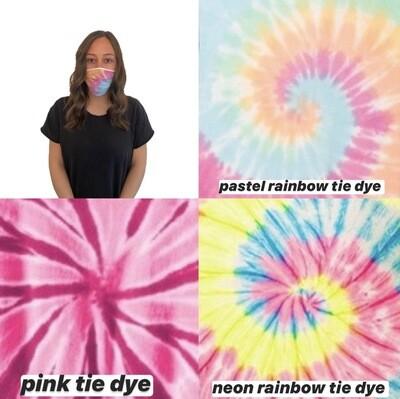 Tie Dye Face Masks - 3 Pack