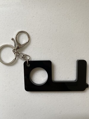 No Touch Key Chain - Black Solid
