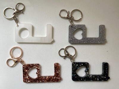 No Touch Key Chain - 4 Pack