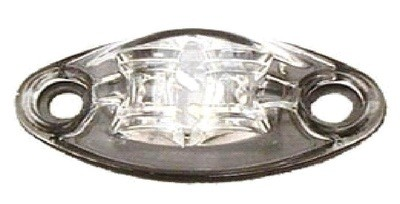 LED Exterior Light - 2 Diode 1 Wire Marker Light Clear/Red