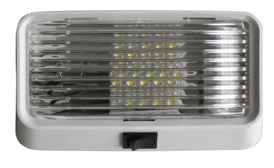 LED Porch Light with On/Off Switch - Clear