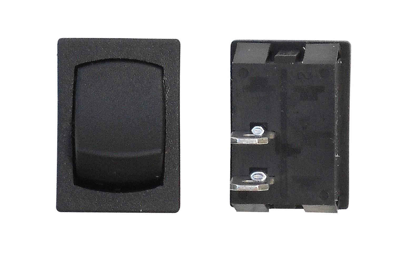 Mini Momentary On/Off SPST - Black 1/Card