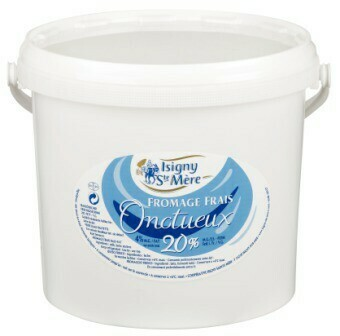 Fromage blanc lisse  20 %  250 g environ