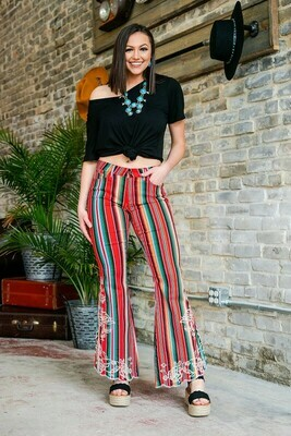 Red serape pants