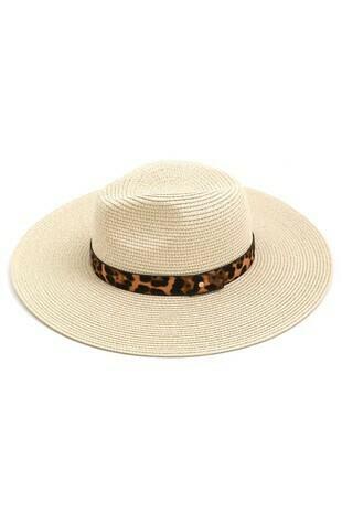 Leopard Straw Hat