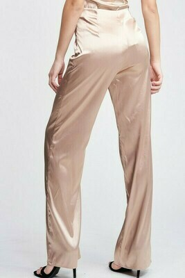 Taupe Satin Pants