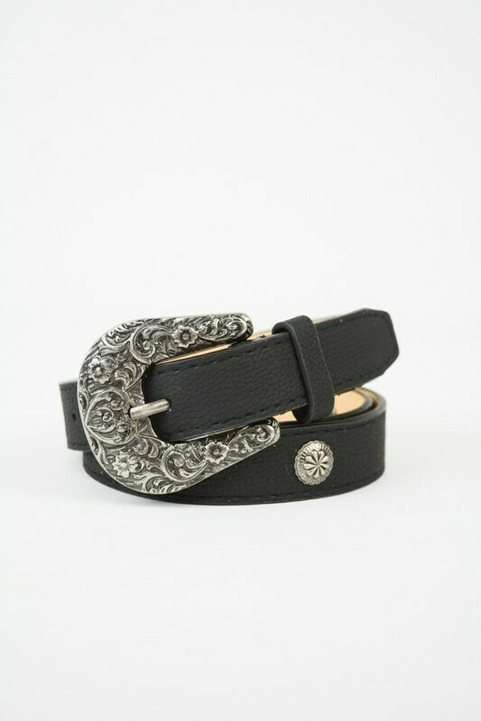 Western belt- black