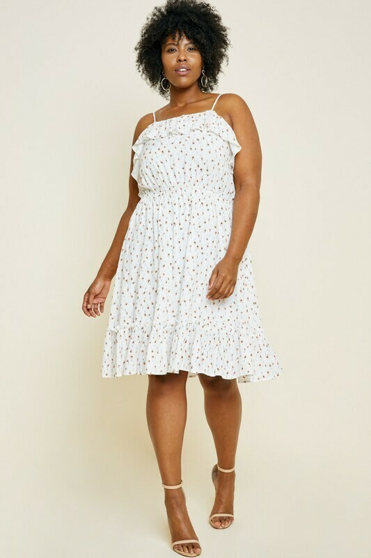 Off White Floral Dress