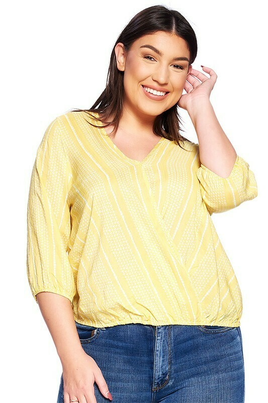 Yellow Striped Top