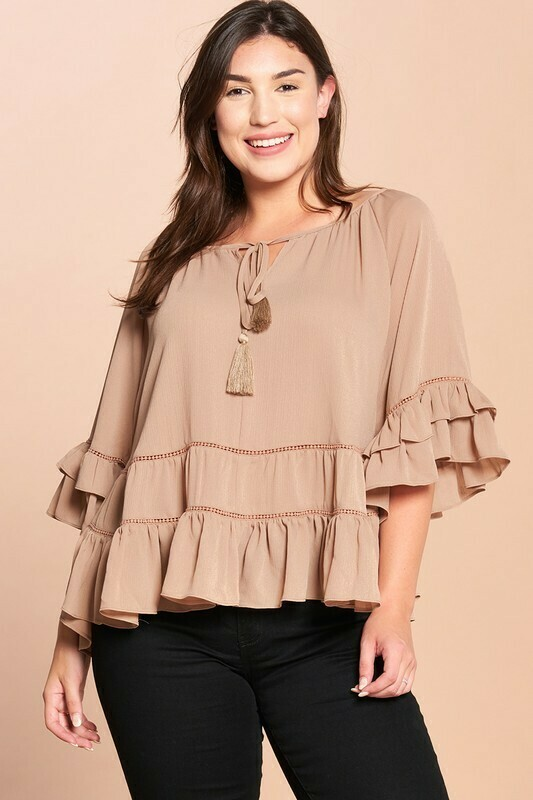 Tiered Ruffle Blouse