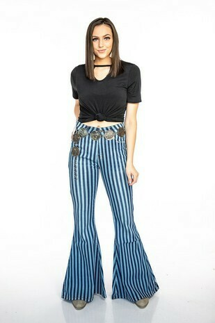 Striped Bell Bottoms
