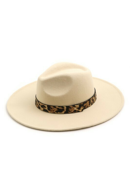 Leopard Felt Hat