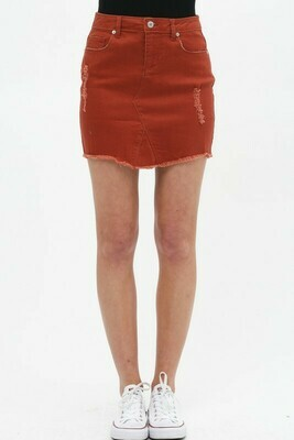 Rust Denim Skirt