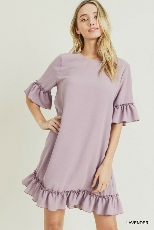 Lavender Ruffle Dress