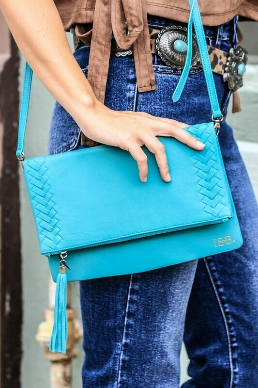 Turquoise Convertible Clutch
