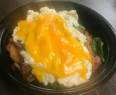 Egg Whites, Meat & Potato Bowl