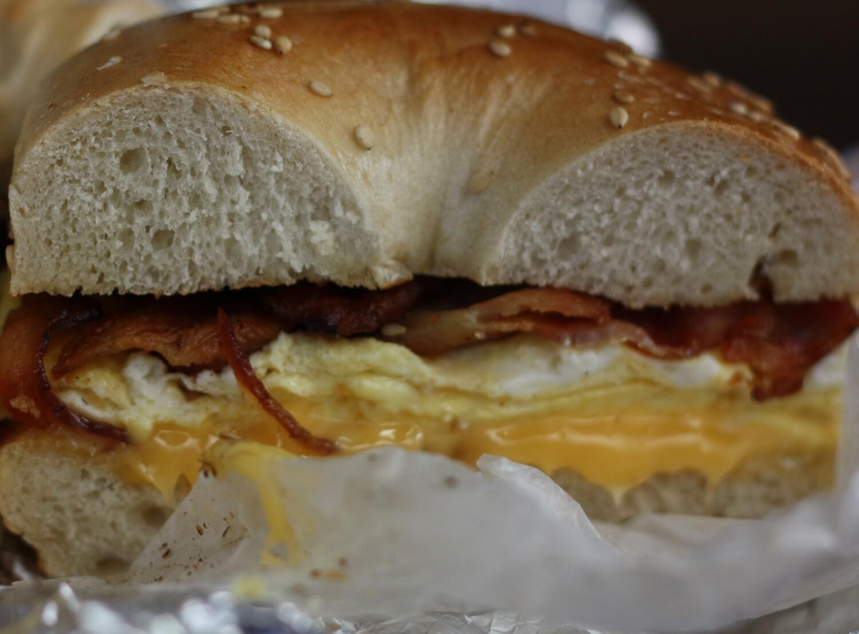 Breakfast Meat, Egg & Cheese Sandwich