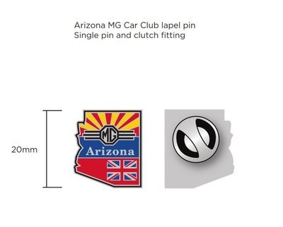 (06) Arizona MG Club Lapel Pin, Earrings, or Cufflinks
