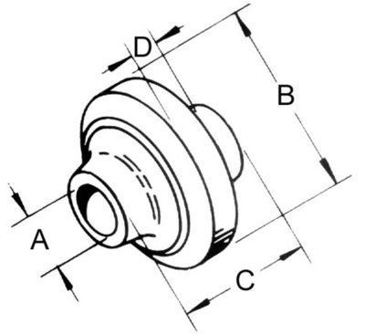 1 1/4 x 4.00 Shouldered Spherical Ball Joint