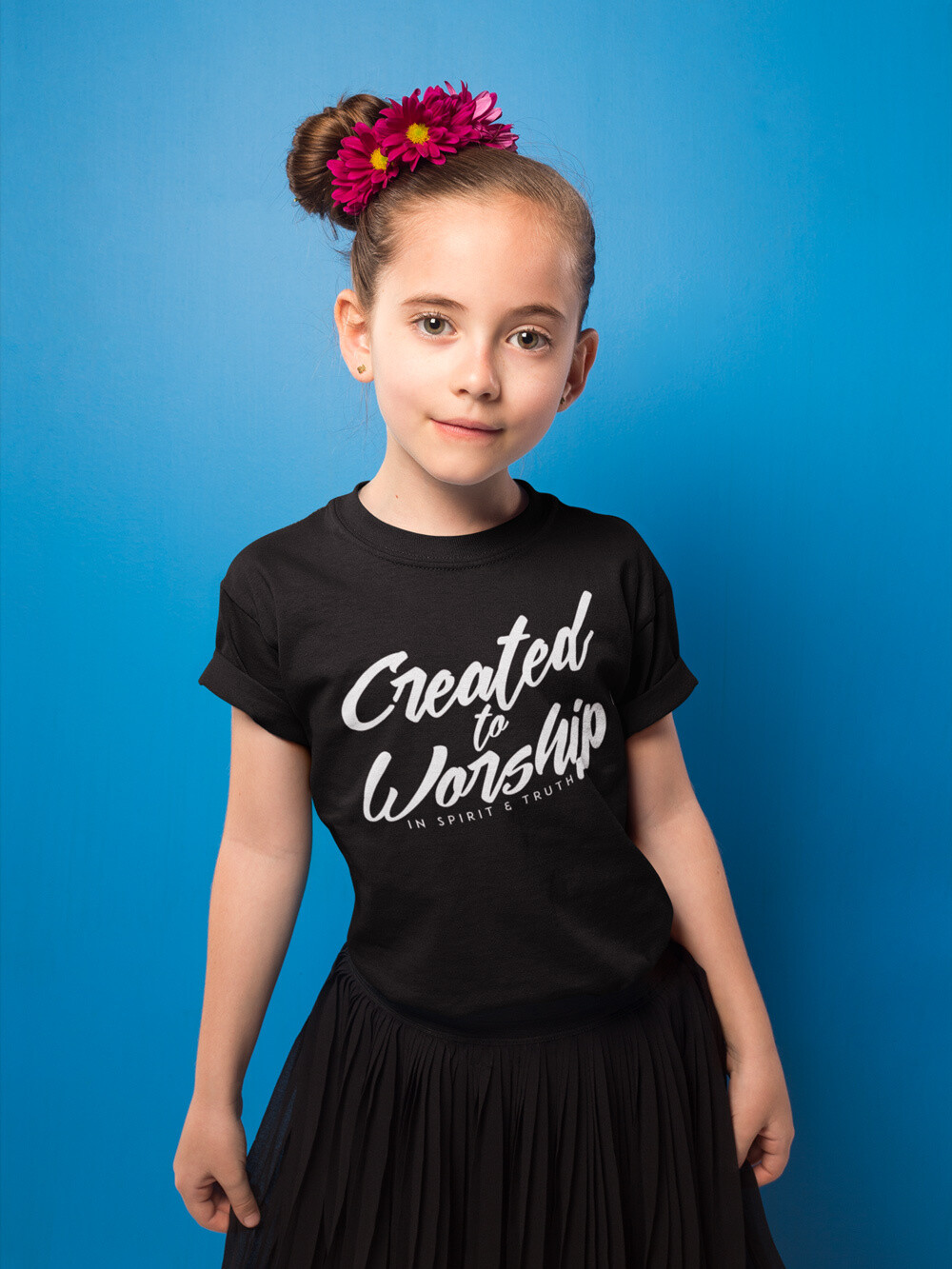"""""""Created to Worship"""" Youth T-Shirt"""