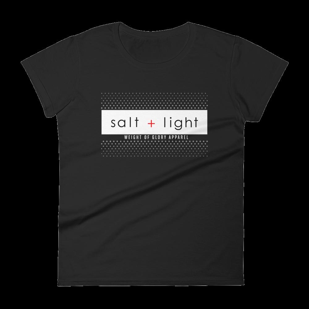"""Salt + Light"" Women's Slim Fit T-Shirt - Black"
