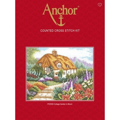 Anchor Cross Stitch Essentials Kit - Cottage Garden in Bloom