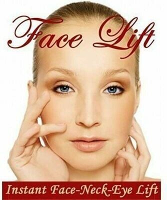 NEW INSTANT FACELIFT AND NECKLIFT FACE NECK LIFT KIT TAPES ANTI AGEING STRIPS (Dark Hair)