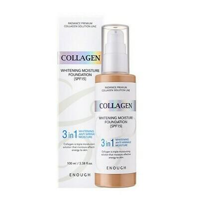 Тональная основа Collagen whitening foundation  3 in 1 spf 15 - #21 Enough