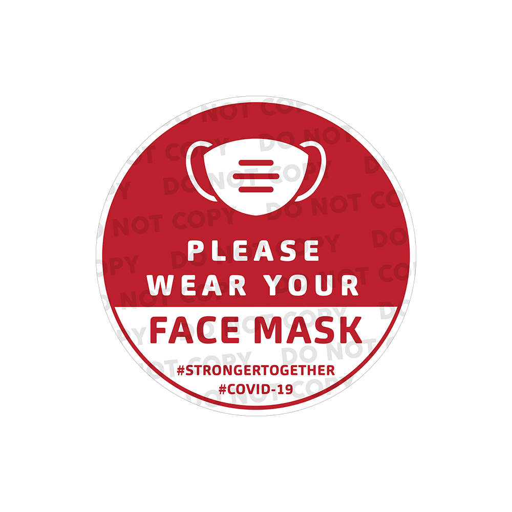 SD Wear Your Mask Stickers 400mm (Pack of 10)