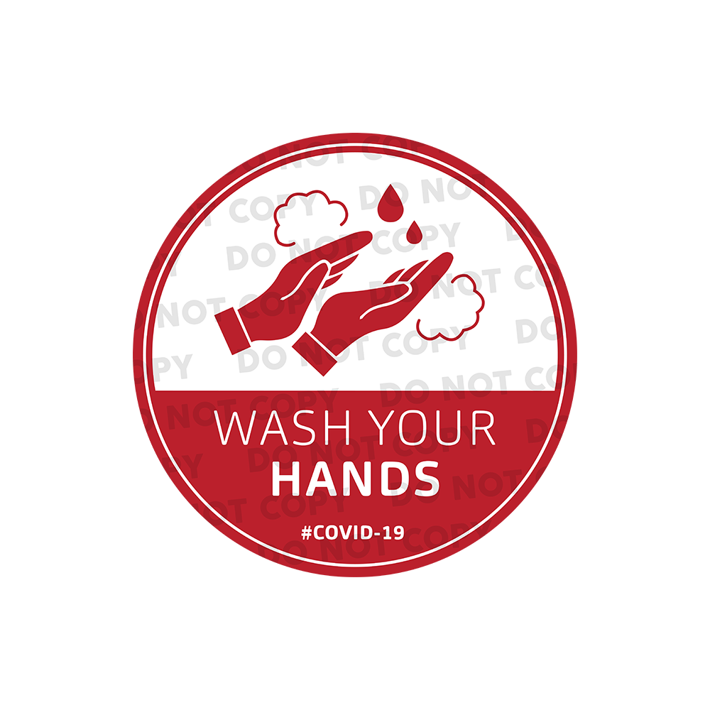 SD Wash Your Hand Stickers 300mm (Pack of 10)