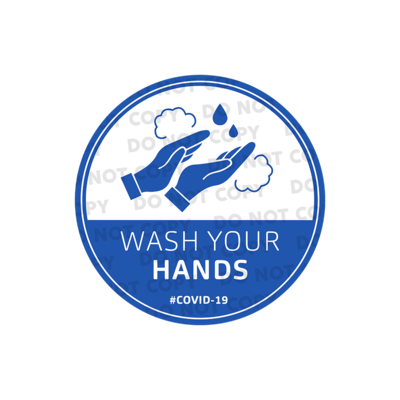 SD Wash Your Hand Stickers 400mm (Pack of 10)