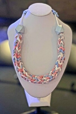 Mixed Colored Handmade Yarn Necklace