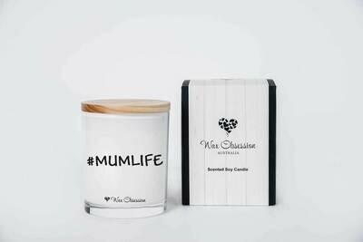 Quote Candle - #Mumlife