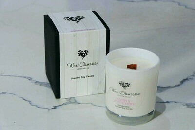 Wooden Wick Candles - Peony & White Musk