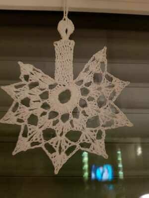 Weihnachtsschmuck Kerze, Kristall und Engel