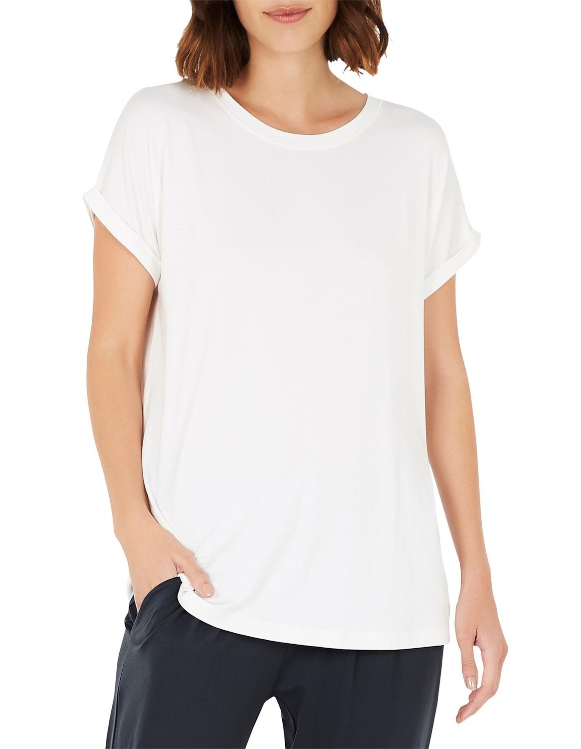 Downtime Lounge Top - Natural White