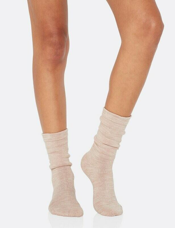 Women's Chunky Bed Sock - Dusty Pink / 3-9