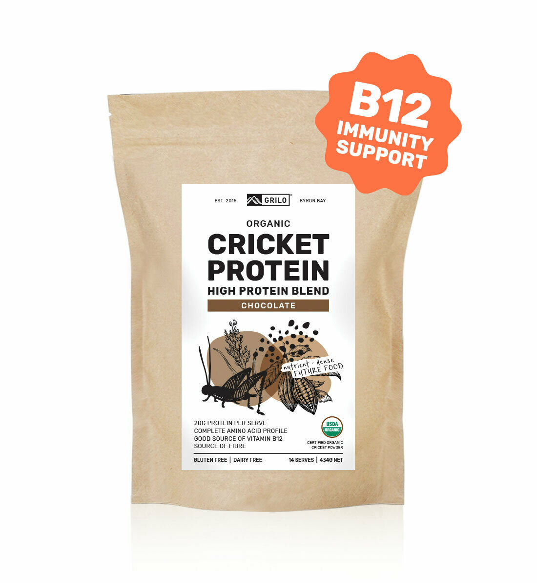 Organic Cricket Protein Blend - Chocolate
