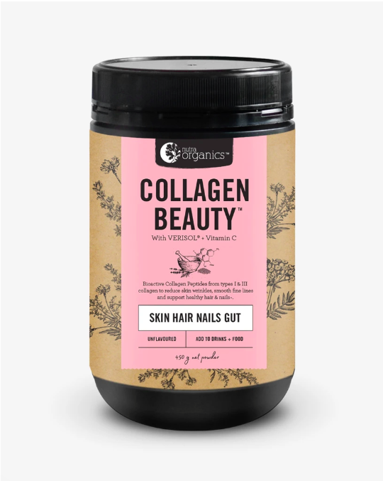 Nutra Organics Collagen Beauty Skin Hair Nails Gut 225g