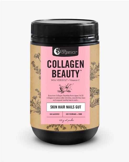 Nutra Organics Collagen Beauty Skin Hair Nails Gut 225g