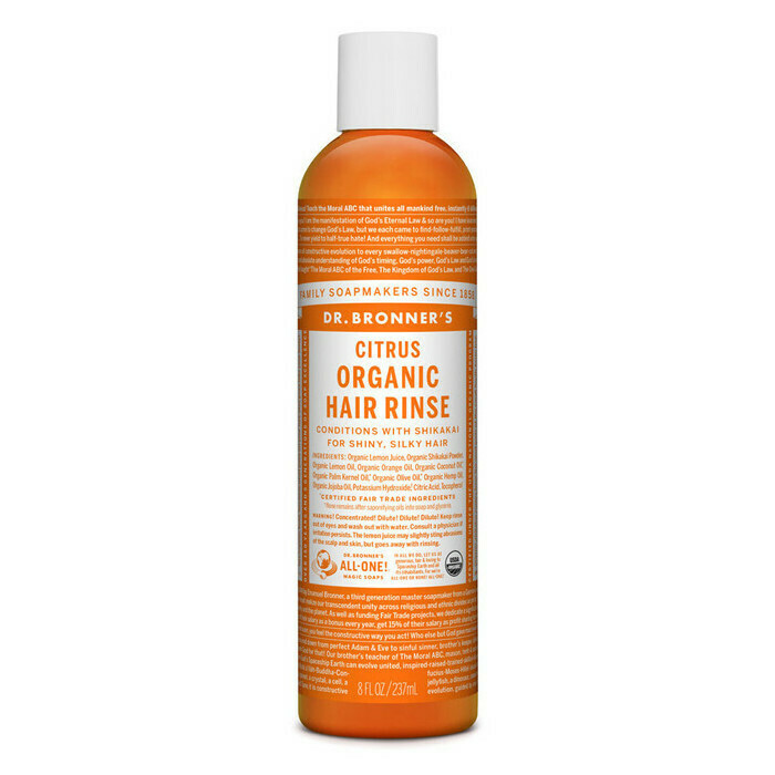 Dr. Bronner's Organic Citrus Hair Rinse 237ml