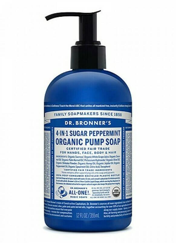 Dr. Bronner's Organic Pump Soap 710ml - Peppermint